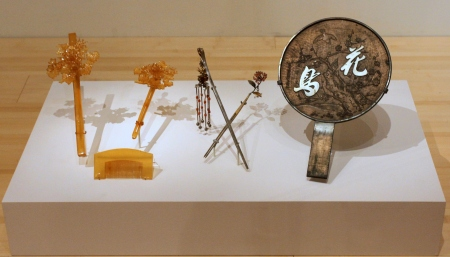 Beauty objects installed in the exhibition.