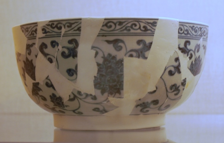 Reconstructed bowl with minimal conservation.