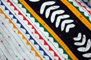Detail of Ralli quilt embroidery